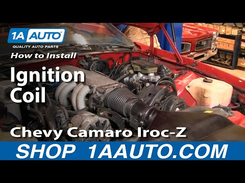 How To Install Replace Ignition Coil 82-92 Chevy Camaro Iroc-Z Pontiac Trans Am Part 2 1AAuto.com