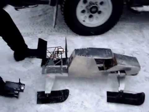 Как сделать радиоуправляемый снегоход