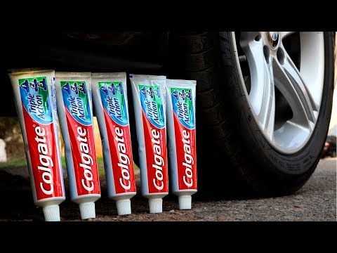 EXPERIMENT: CAR VS TOOTHPASTE
