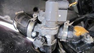 7. Piaggio Vergaser Ausbau / Einbau 50ccm Motor - Dellorto 14 Vergaser