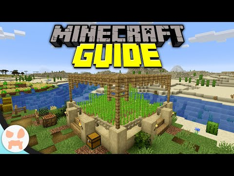 Starter Sugarcane Farm! | Minecraft Guide Episode 7 (Minecraft 1.15.1 Lets Play)