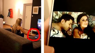 Download Video Snooping on Boyfriend's Phone Prank Goes CRAZY!! MP3 3GP MP4