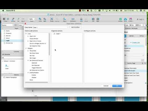 Axure Tutorial - create login and contact us forms using dynamic panel