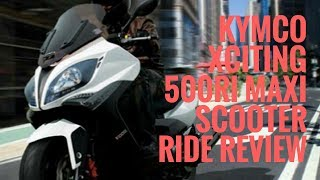 8. KYMCO Xciting 500Ri Maxi Scooter Ride Review | Motorcycle-sport!