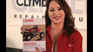 5. Clymer Manuals Honda TRX450R TRX450ER Maintenance Troubleshooting Repair Shop Manual ATV Video
