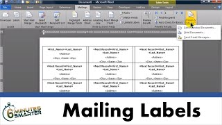 Create Mailing Labels in Word using Mail Merge from an Excel Data Set