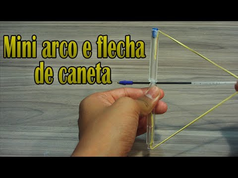 Como fazer um Mini arco e flecha de caneta