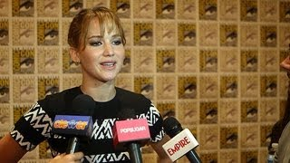 Jennifer Lawrence Talks Catching Fire's Complicated Love Triangle | Comic-Con 2013