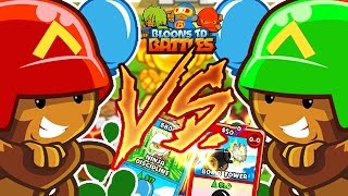 BLOONS CARD BATTLE 1VS1 *BEST CARDS EVER* - BLOONS TOWER DEFENSE BATTLES