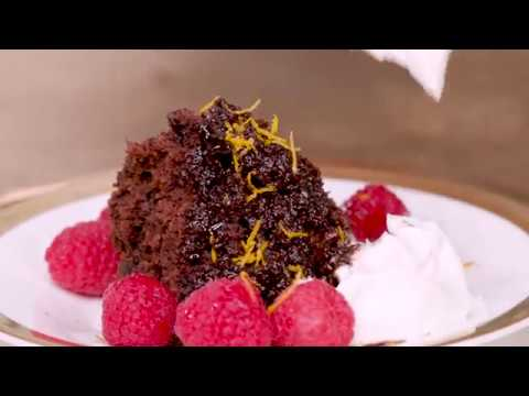 Chocolate-Orange Self-Saucing Pudding | Cooking Light