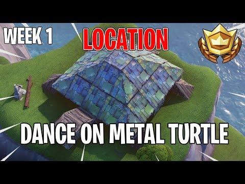 dance on top of metal turtle