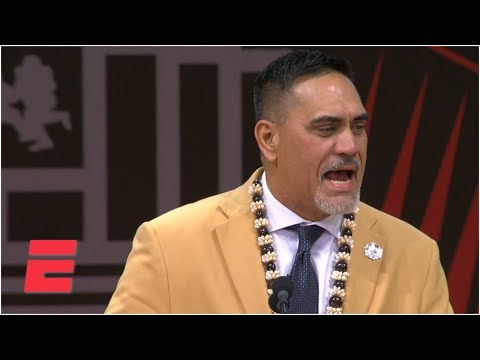 Video: Jets legend Kevin Mawae enshrined as first Hawaiian in the Pro Football Hall of Fame | NFL on ESPN