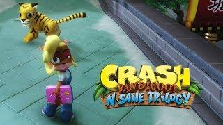 Crash N Sane Trilogy Remaster PS4 gameplay em Português. Gameplay de Crash Bandicoot 3 warped em PT-BR completa REMASTER (Remasterizado).