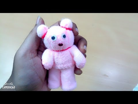 DIY Teddy bear|Art and Crafts|Yarn teddy bear|Napkin teddy bear