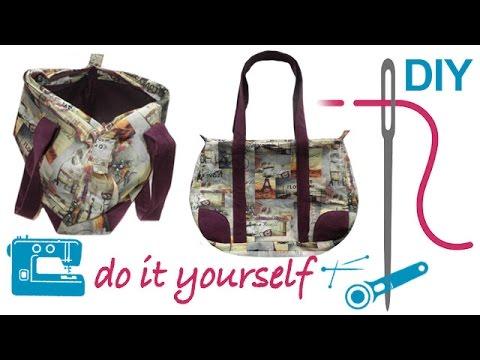 Bowling Bag Tasche / Tasche / Handtasche selber nähen - Nähen für Fortgeschrittene