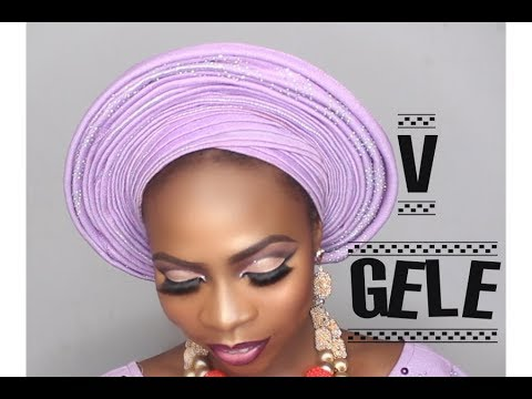HOW TO TIE THE V SHAPED GELE PERFECT FOR BRIDES!!!!/ DUMEBI LEA
