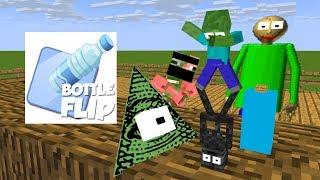 Video Monster School : BOTTLE FLIP BATTLE CHALLENGE - Minecraft Animation MP3, 3GP, MP4, WEBM, AVI, FLV Februari 2019