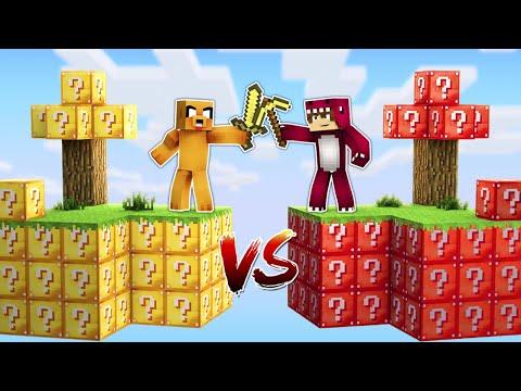 ISLA de LUCKY BLOCKS de MIKECRACK vs. ISLA de LUCKY BLOCKS de RAPTOR Y FRAN! 😱❓ MINECRAFT MODS