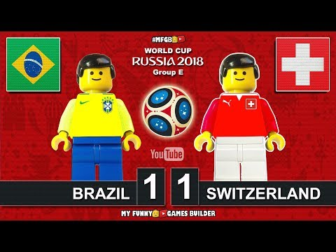 Brazil vs Switzerland 1-1 • World Cup 2018 (17/06/2018) All Goals Highlights Lego Football • Brasil