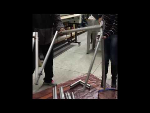 Estrutura em alumínio + tecido VesteFacil frente e verso 3,00 x 2,30