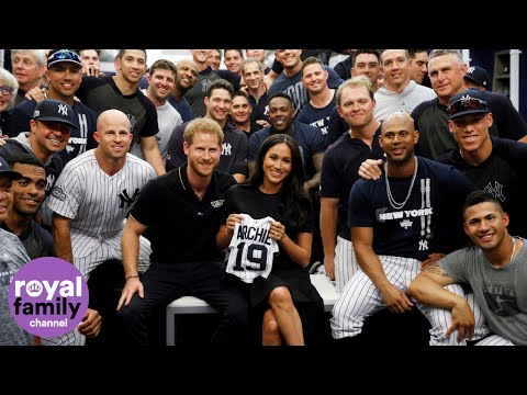 Duke And Duchess Of Sussex Meet NY Yankees And Boston Red Sox