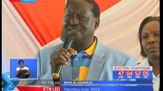 Kinara wa muungano wa NASA Raila Odinga adai kuipinga zabuni uliopewa kampuni ya Al ghurair SUBSCRIBE to our YouTube...