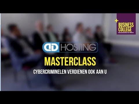 Masterclass 'cybercriminelen verdienen ook aan u!'