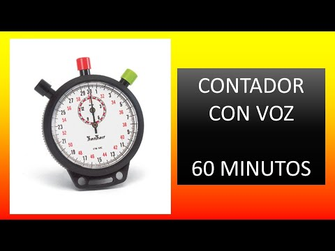 Contador 60 minutos (Una Hora) con voz