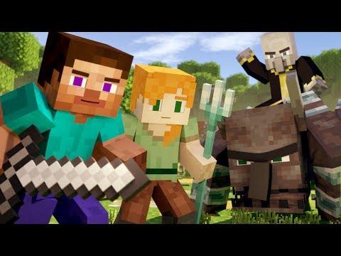 VILLAGE RAID - Alex and Steve Life (Minecraft Animation)