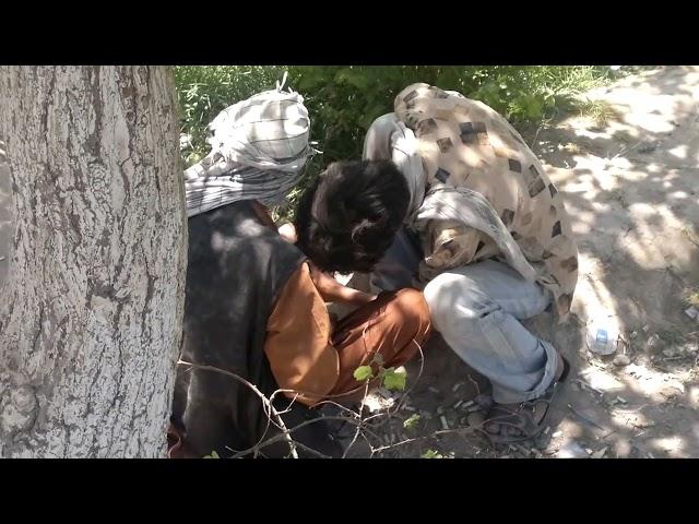 وضعیت ناهنجار زندگی معتادین موادمخدر درشهر مزارشریف ولایت بلخ افغانستان
