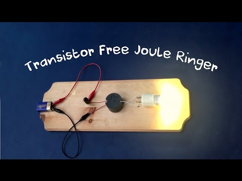 Joule Ringer - This is probably the simplest transformer driver I have ever tested. So far I have tested this using between 12 to 2 volts and between 500mA to 30mA. It seems to be very versatile. Other projects:...