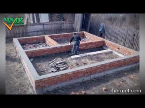 Фундамент своими руками под дом видео