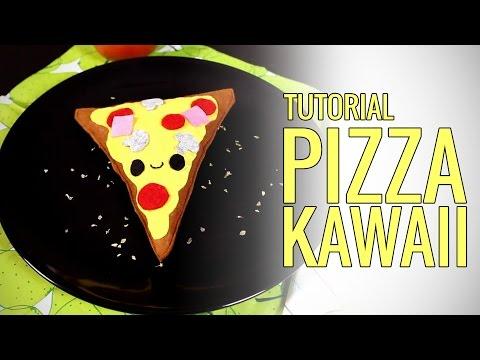 Cómo hacer un peluche pizza kawaii (manualidades con fieltro)