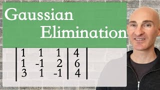 Learn how to solve systems of equations using Gaussian Elimination with back substitution in this free math video tutorial by Mario's Math Tutoring. We go through 2 examples using augmented matrices.Looking to raise your math score on the ACT and new SAT? Check out my Huge ACT Math Video Course and my Huge SAT Math Video Course for sale athttp://mariosmathtutoring.teachable.comFor online 1-to-1 tutoring or more information about me see my website at:http://www.mariosmathtutoring.com