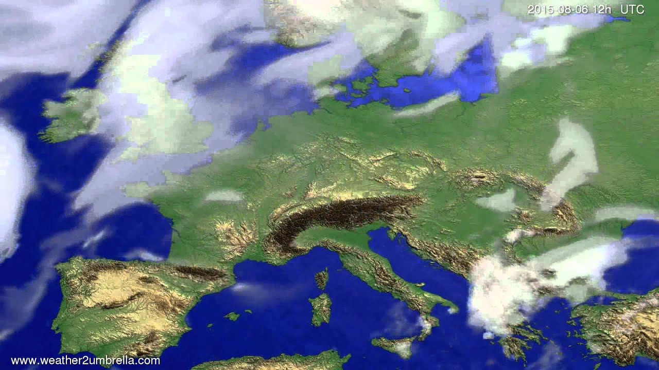 Cloud forecast Europe 2015-08-02
