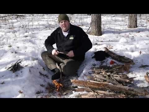 How to Start a Fire in Winter - Winter Fire Basics on Snow Covered Ground