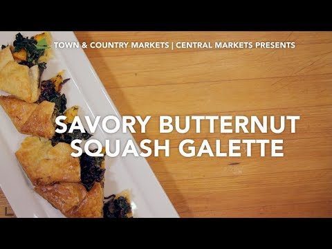 This video demonstrates the making of Savory Butternut Squash Galette