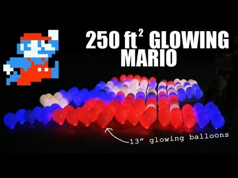 Giant Glowing Super Mario Night Kite
