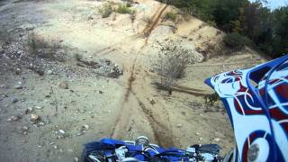 7. 2008 yamaha yfz 450 riding in the pit