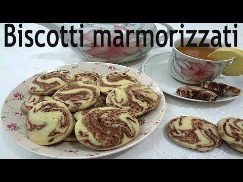 video ricetta: squisiti biscotti marmorizzati.