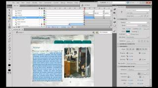 How to Build a Website in Flash CS5? - Part 15