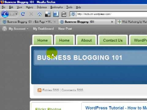 WordPress Tutorial – How to Make a Static Page Your Home Page & Hide Double Home Page Link