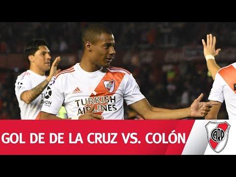 Asistencia de Suárez y remate de De La Cruz para abrir el marcador frente a Colón