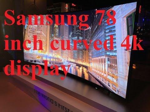 SAMSUNG: CURVED 78 INCH 4k ULTRA HD LED TV QUALITY TEST