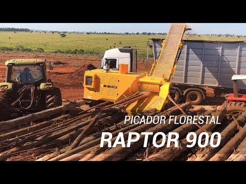 Picador Florestal Raptor 900 trabalhando em fazenda de reflorestamento