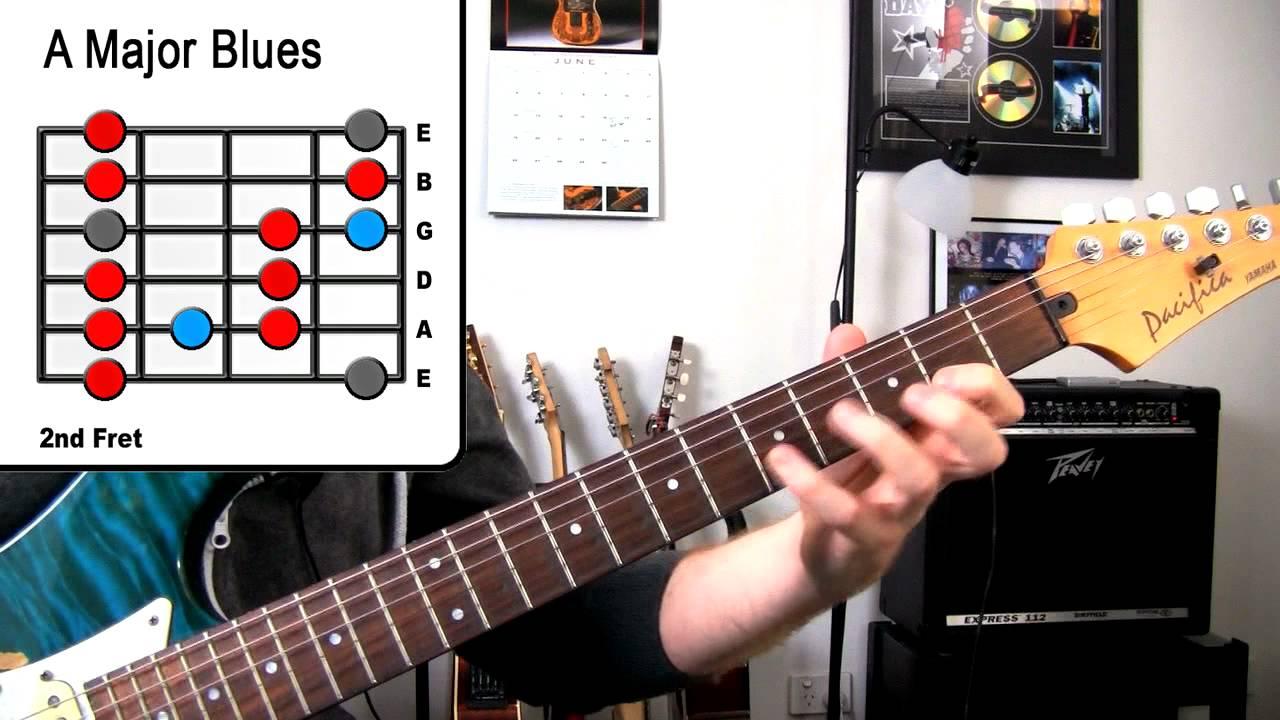 A Major Blues – Guitar Scale Lesson – Inspired John Mayer, SRV, Jonny Lang