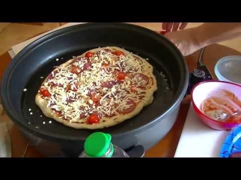 Tutorial * Pizza backen in der elektrischen Pfanne so gehts * Pfannenpizza *