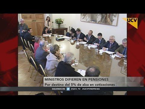 video Ministros difieren en pensiones por destino del 5% de alza en cotizaciones