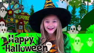 Sasha Pretend Play Halloween Trick or Treat Candy Park