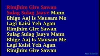 Video Rimjhim Gire Sawan - Kishore Kumar Hindi Full Karaoke with Lyrics MP3, 3GP, MP4, WEBM, AVI, FLV Juni 2018